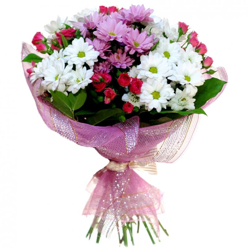 Фото букеты хризантемы и розы